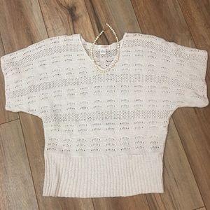 August Silk Crocheted Top